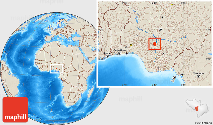Shaded Relief Location Map of Ajaokuta on sudan in map, luxembourg in map, jordan in map, andorra in map, bahrain in map, macedonia in map, uzbekistan in map, brunei in map, togo in map, somaliland in map, djibouti in map, boko haram in map, easter islands in map, connecticut in map, saint lucia in map, turkmenistan in map, czech republic in map, senegal in map, south africa in map, cook islands in map,