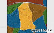 Political Map of Ankpa, darken