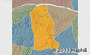 Political Map of Ankpa, semi-desaturated