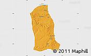 Political Map of Ankpa, single color outside