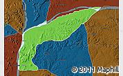 Political Map of Bassa, darken