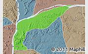 Political Map of Bassa, semi-desaturated