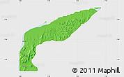 Political Map of Bassa, single color outside