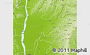 Physical Map of Idah