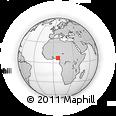 Outline Map of Idah