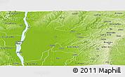 Physical Panoramic Map of Idah