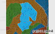 Political Map of Kabba/Bu, darken