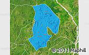 Political Map of Kabba/Bu, satellite outside