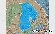 Political Map of Kabba/Bu, semi-desaturated