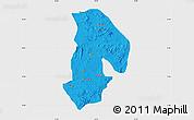 Political Map of Kabba/Bu, single color outside