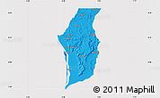 Political Map of Kogi, cropped outside