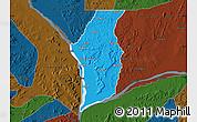 Political Map of Kogi, darken
