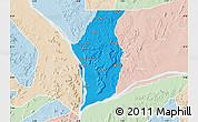 Political Map of Kogi, lighten