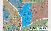 Political Map of Kogi, semi-desaturated