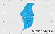 Political Map of Kogi, single color outside
