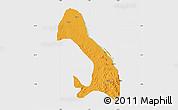 Political Map of Kotonkar, single color outside