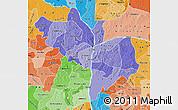 Political Shades Map of Kogi