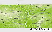 Physical Panoramic Map of Kogi