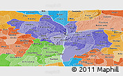 Political Shades Panoramic Map of Kogi