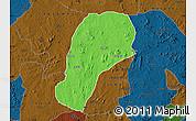 Political Map of YagbaEas, darken