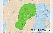 Political Map of YagbaEas, lighten