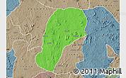 Political Map of YagbaEas, semi-desaturated