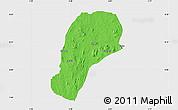 Political Map of YagbaEas, single color outside