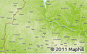 Physical 3D Map of Kwara