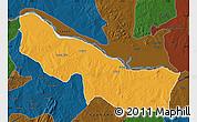 Political Map of Edu, darken