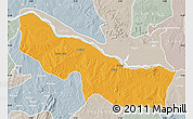 Political Map of Edu, lighten, semi-desaturated