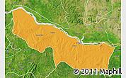 Political Map of Edu, satellite outside