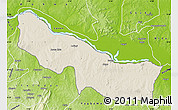Shaded Relief Map of Edu, physical outside