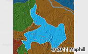 Political Map of Ifelodun, darken