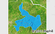 Political Map of Ifelodun, satellite outside