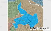 Political Map of Ifelodun, semi-desaturated