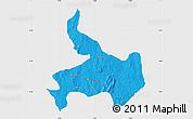 Political Map of Ifelodun, single color outside