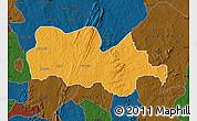 Political Map of Irepodun, darken