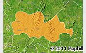 Political Map of Irepodun, satellite outside