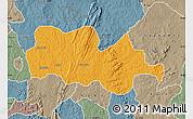 Political Map of Irepodun, semi-desaturated