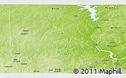 Physical Panoramic Map of Kaiama