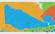 Political Panoramic Map of Kaiama