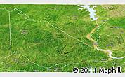 Satellite Panoramic Map of Kaiama