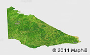 Satellite Panoramic Map of Kaiama, single color outside