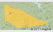 Savanna Style Panoramic Map of Kaiama