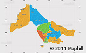 Political Map of Kwara, cropped outside