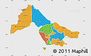 Political Map of Kwara, single color outside