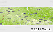 Physical Panoramic Map of Kwara