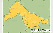 Savanna Style Simple Map of Kwara, cropped outside