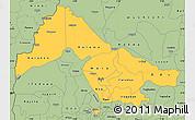 Savanna Style Simple Map of Kwara