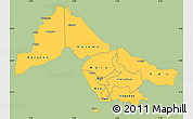 Savanna Style Simple Map of Kwara, single color outside